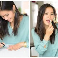 Make-uop-Opi-Green-Guerlain-lipstick1-200x200 Outfit: Mintgroene blouse