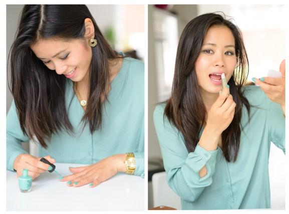 Make-uop-Opi-Green-Guerlain-lipstick1-577x427 Diary pic's: beauty producten, uit eten & shoppen