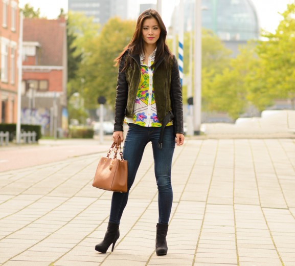 modeblogger-my-huong-only-bikerjacket-577x520 Outfit: Colour splash blouse
