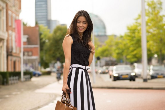 my-huong-striped-dress-black