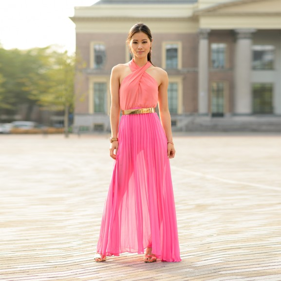 100px-maxi-pink-dress-my-huong-577x577 Outfit: Pink Maxi-dress