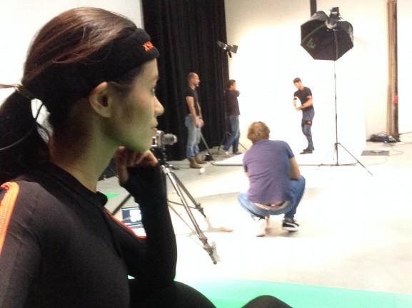 Backstage met model peter 3d in Enschede