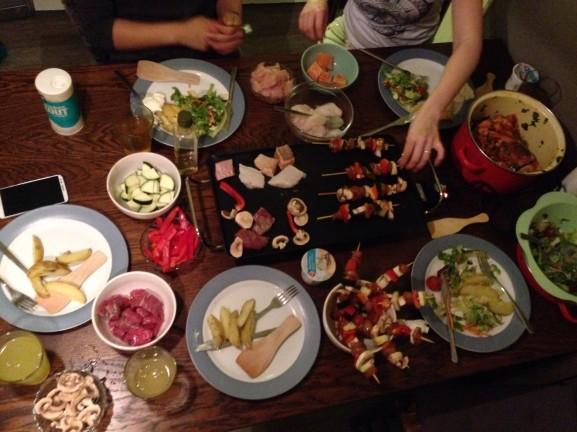Lekker eten met vriendinnen gourmetten