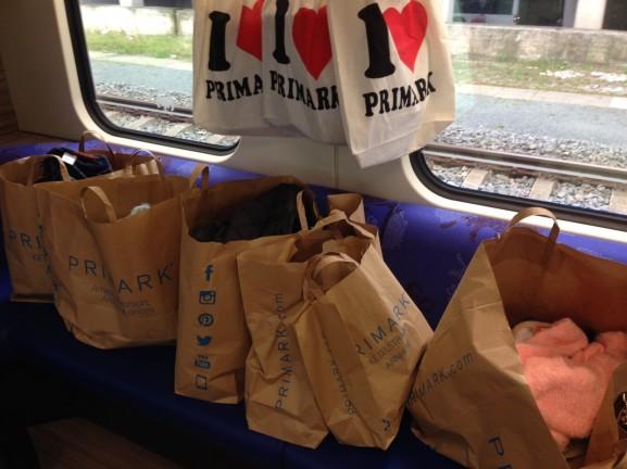 Primark shoppen in de trein terug naar Leeuwarden