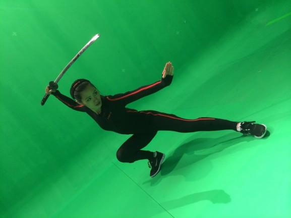 Xsens 3d backstage ninja pose