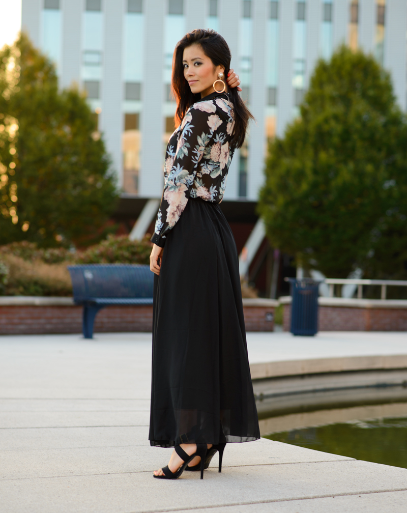 outfit black maxi skirt the beauty musthaves