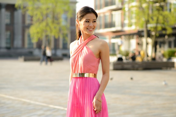 my-huong-pink-sheinside-maxi-dress-577x385 Outfit: Pink Maxi-dress