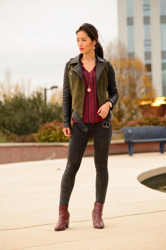 my-huong-look-burgundy-upc-de-friesland-zorgverzekeraar-outfit-leeuwarden-577x864 Outfit: Bordeaux blouse en laarsjes
