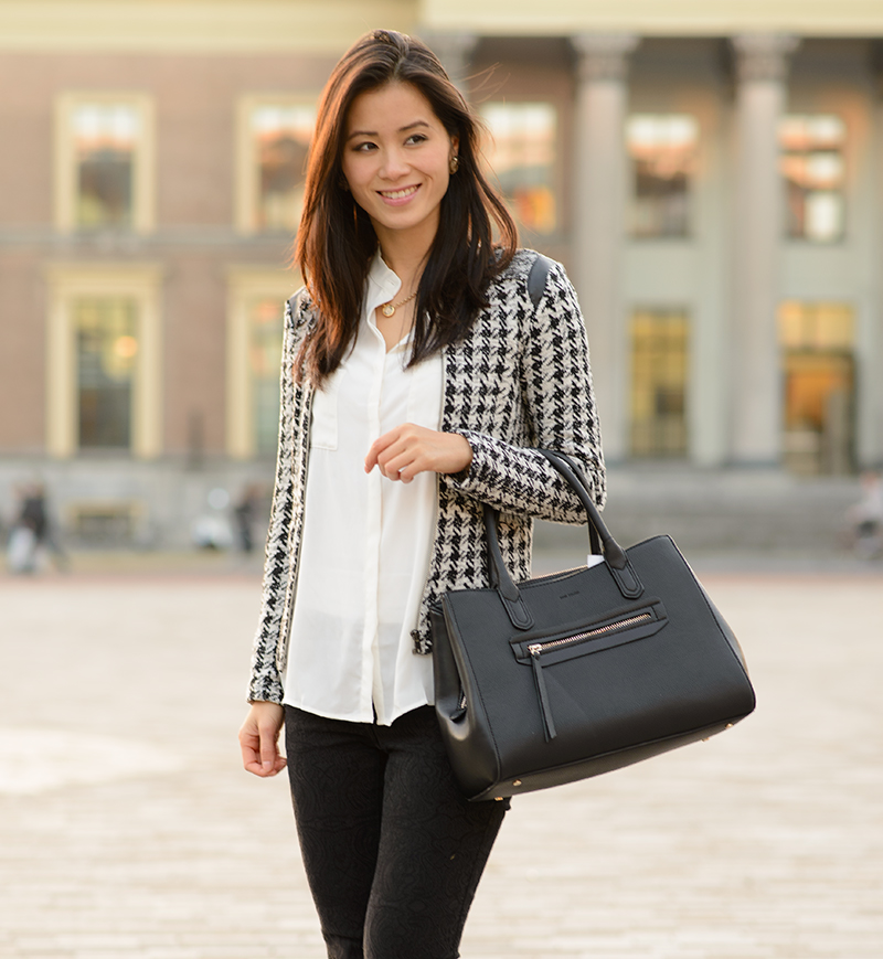 Black Blouse Outfit My-huong-outfit-blogger-black