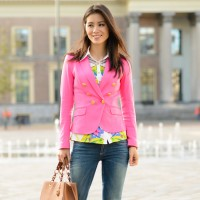 my-huong-outfit-blogger-pink-blazer-200x200 Outfit: Pink blazer & Geopgrahic blouse