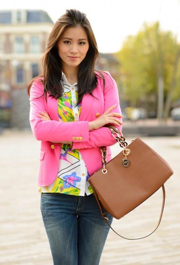 my-huong-outfit-look-blazer-pink-splash-sheinside-fashion-blogger-leeuwarden