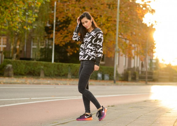 rebel-chic-outfit-look-my-black-nie-577x411 Outfit: Rebel chic in Nike Flyknit Air Max