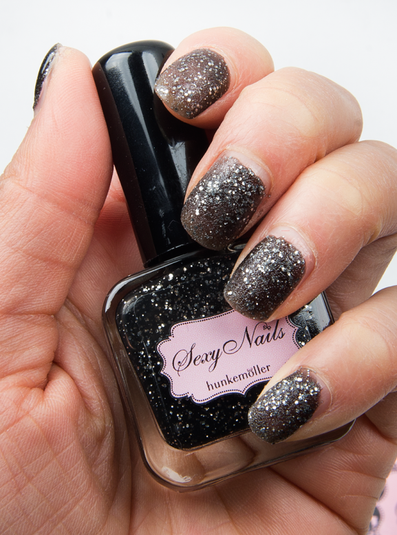 Sexy-nails-hunkemoller-Nagellak-glitter-zwart