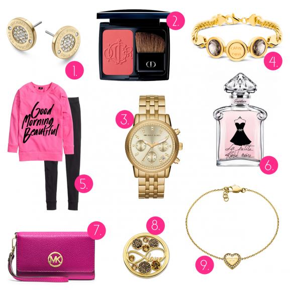 Valentijn-musthaves-2015-michael-kors-watch-gold-jewels-Love-ketting-armband-munt-Mi-Moneda-Dior-Blush-La-Petite-Robe-Guerlain-Pyama-hm