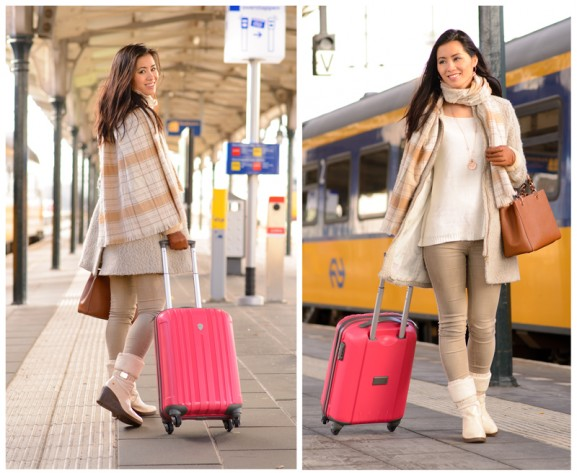 Bagage-online-Enrico-benetti-luggage-handbagage-trolley-Roze-Pink-577x473 Enrico Benetti trolley van bagageonline.nl