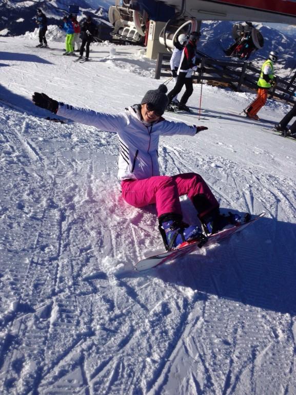 lol hebben op de snowboard