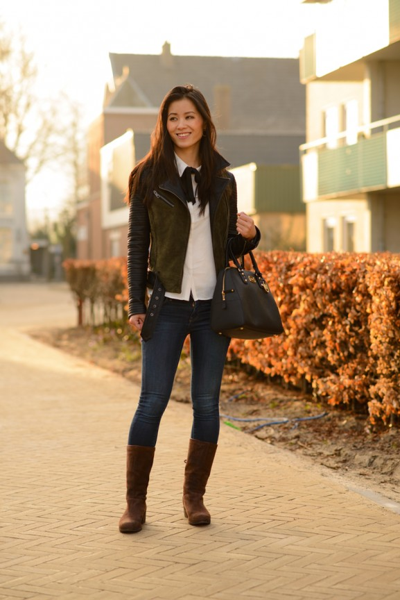 My-Huong-Biker-outfit-suede-Michael-Kors-577x864 Outfit: Michael Kors Jet Set look