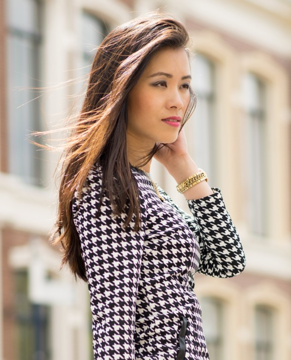 My-Huong-Pied-de-poule-dress-print-