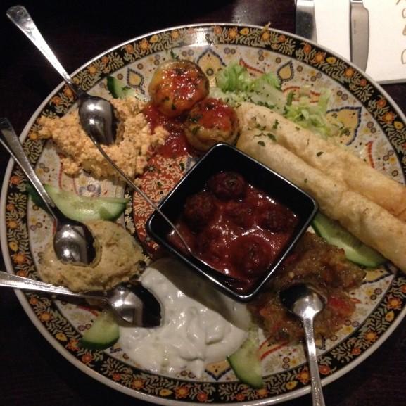 Turks eten bij Saray