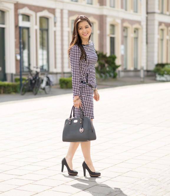 pied-de-poule-outfit-my-huong--577x667 Outfit: Pied de Poule jurk