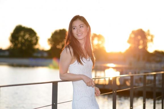 My-Huong-wit-kanten-jurk-strand-577x385 Outfit: White lace dress