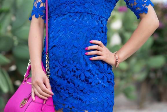 Kobalt-blauw-jurk-Accessoires-details-Sheinside-Michael-Kors-577x385 Outfit: Kobalt Blauw jurkje vs. Fuchsia accessoires