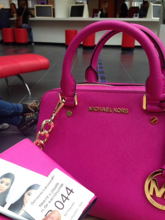 Michael Kors Fuschia Satchel