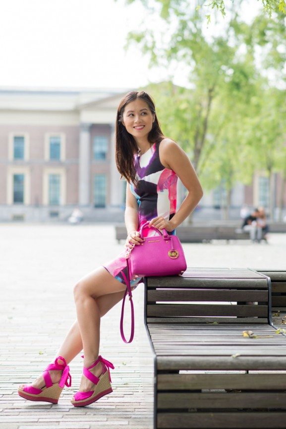 my-huong-birthday-look-fuschia-pink-michael-kors-satchel
