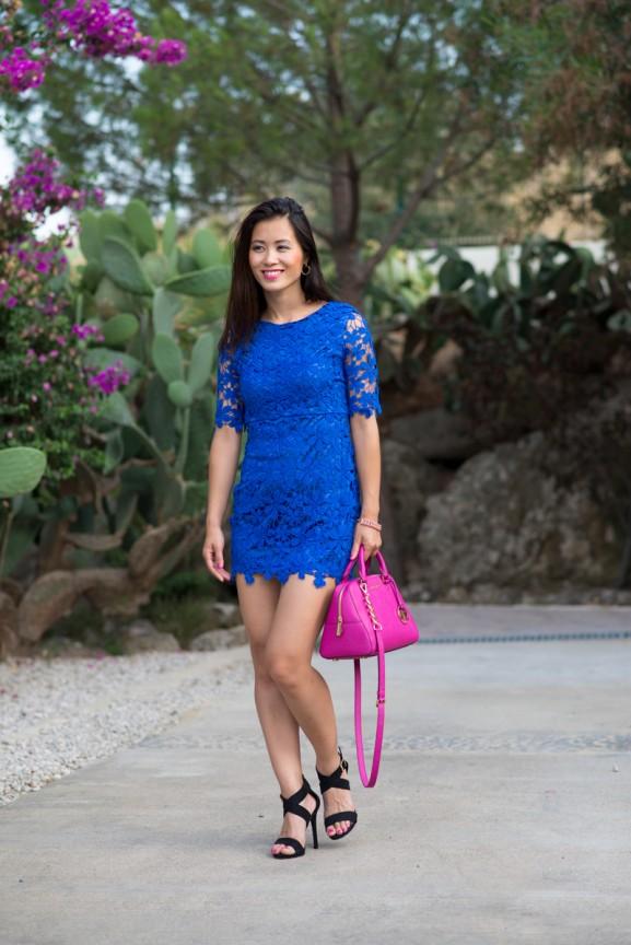 my-huong-blauwe-jurk-Sheinside-Turkije-577x864 Outfit: Kobalt Blauw jurkje vs. Fuchsia accessoires
