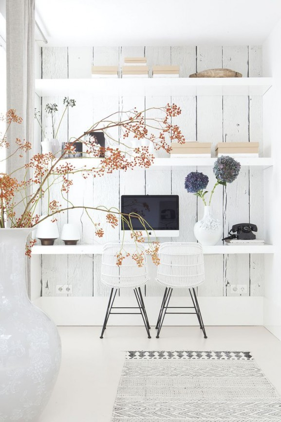 imac office white room inspiration