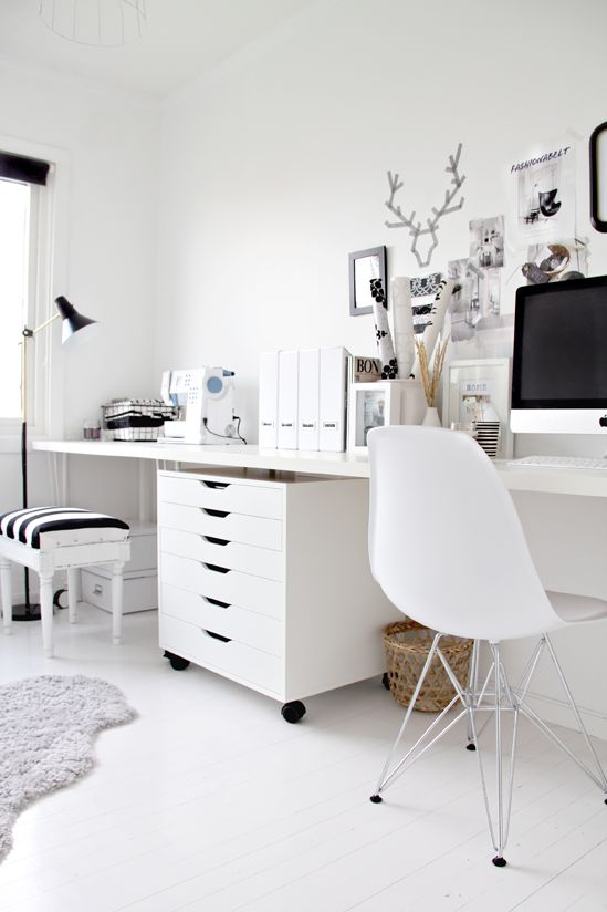 white desk imac inspiration