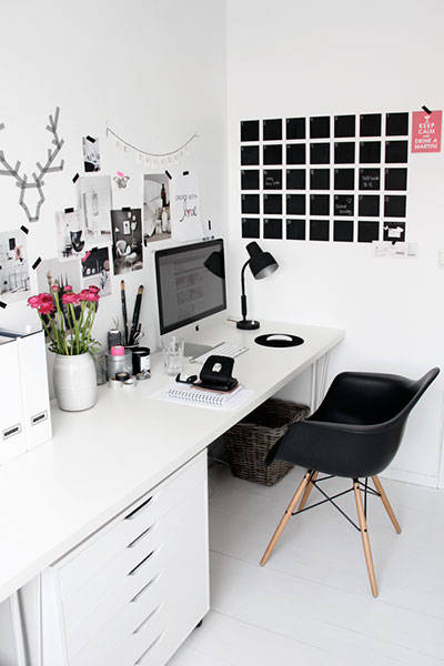 woning inspiratie white imac office desk