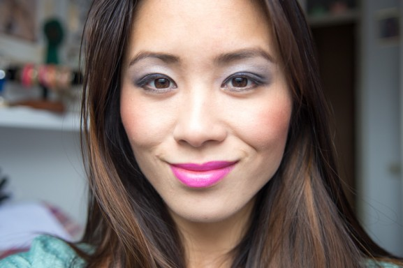 my-huong-look-577x384 YSL fuchsia lipstick & nagellak