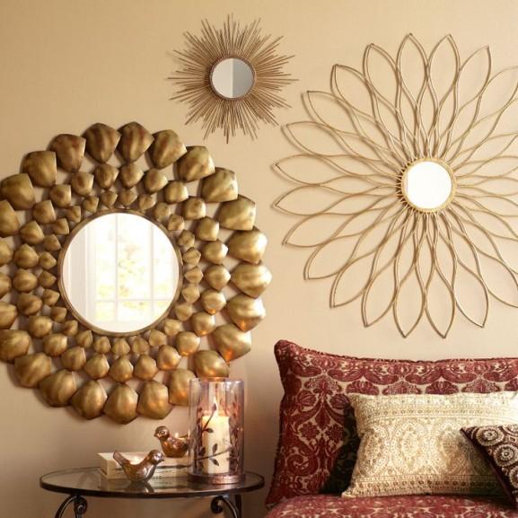 Gezellig warmte flowers mirror