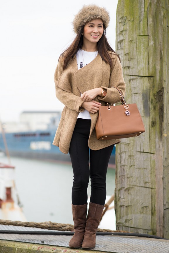 russian-brown-hat-coat-sheinside-michael-kors-cynthia-handbag-ugg-boots