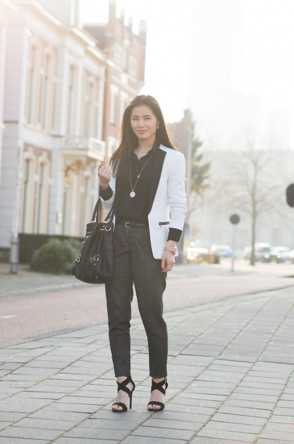 outfit-blazer-pantalon-black-white-577x870 Outfit: the black white blazer