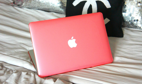 Peach coral pink mac book air case