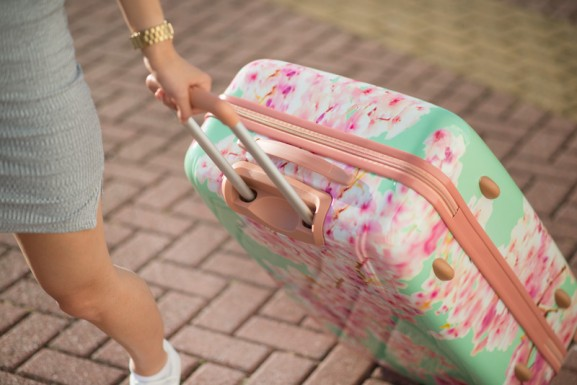 carry-on-kofffer-roze-mintgroen-577x385 Carry On Trolley 78 Bloesem Koffer