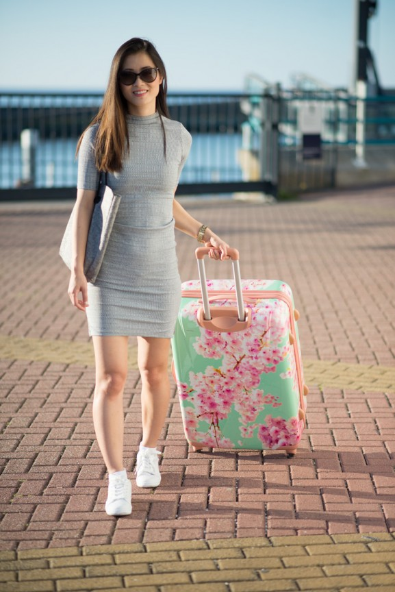 koffer-carry-on-harlingen-blossom-pink-mint-green-577x864 Carry On Trolley 78 Bloesem Koffer