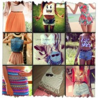 summer clothes collage 2016
