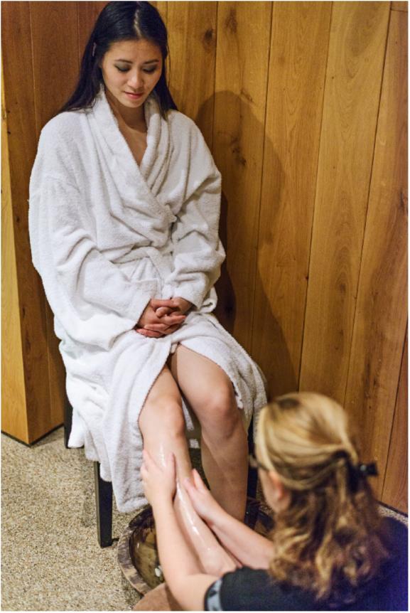 Ontspannen voetmassage aveda
