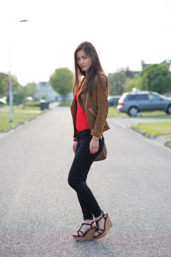 red-biker-suede