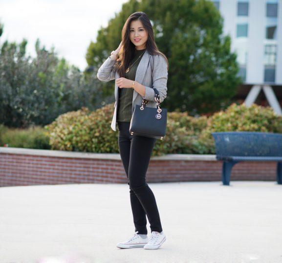 kaki-top-blazer-577x537 Outfit: Stylish business look