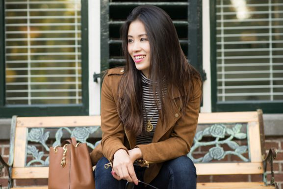 my-huong-jacket-outfit-michael-kors-577x385 Outfit: Faux Suede Jacket