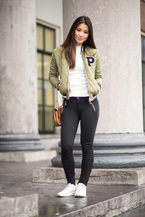 My-huong-bomberjack-wear-sheinside-zaailand-leeuwarden-gerechtsgebouw-577x864 Outfit: How to wear a bomber jacket?