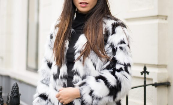 Faux-fur-white-black