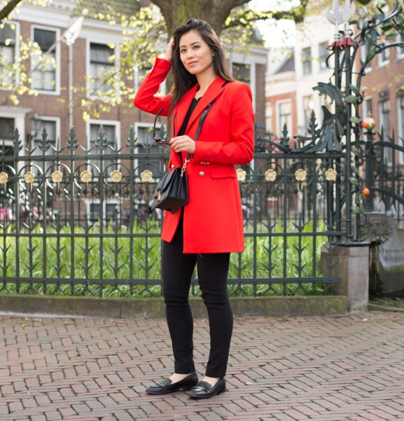 red-jacket-zara-loafers-manfield
