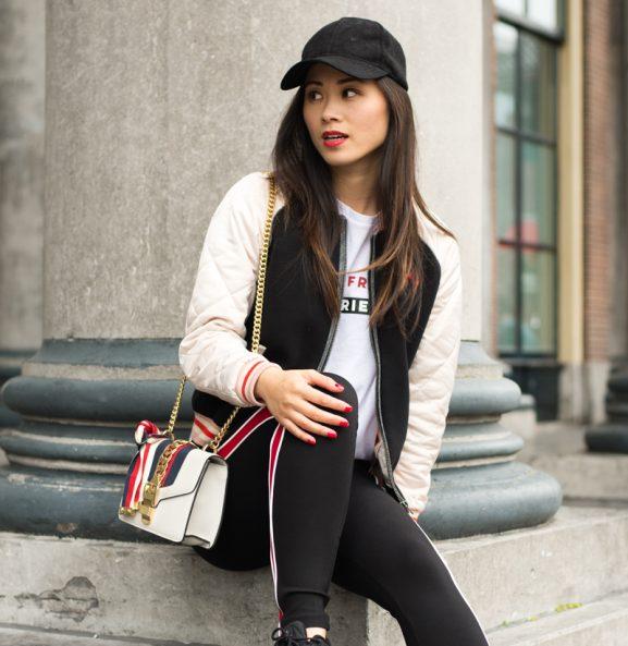 My-HUong_bomberjacket_-Maison-Scotch-577x593 Outfit: Red lips bomberjacket