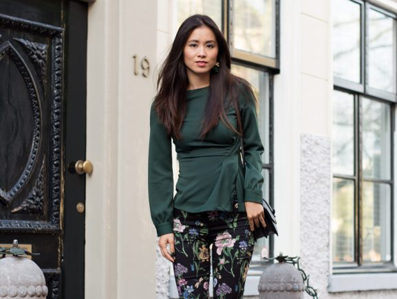 My-Huong-look_green-577x435 Outfit: Forest Green look
