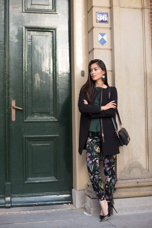 my-huong_Winter-outfit_zara2017_hm_donker-Groen_green-577x864 Outfit: Forest Green look
